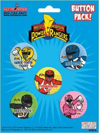 Mighty Morphin Power Rangers Buttons Pack
