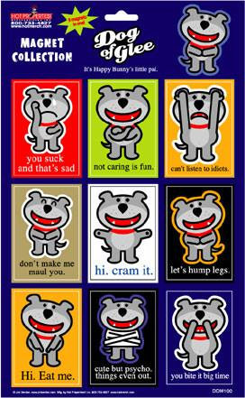 Funny Dog of Glee Bulldog Magnets Collection