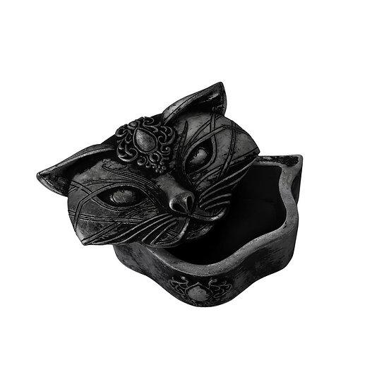Sacred Goddess Cat Black Trinket Box by Alchemy Gothic 1977