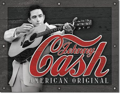 American Original Johnny Cash Tin Sign
