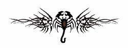 Tribal Tattoo Scorpion Sticker