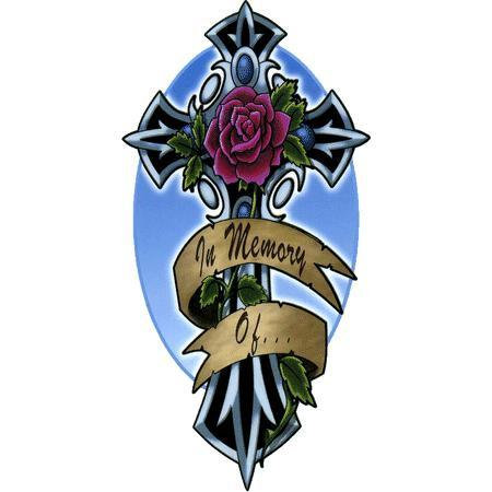 Memorial Cross Sticker