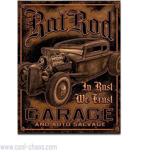 Rat Rod Auto Salvage + Garage Sign