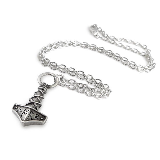 Pewter Thor Hammer Amulet Pendant Necklace by Alchemy Gothic 1977