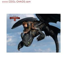 How to Train Your Dragon 2 Magnet-Hiccup Riding Toothless