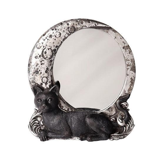 Sacred Black Cat Moon Mirror
