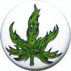Tribal Pot Leaf Button