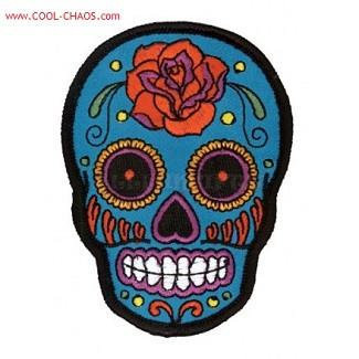 Tattoo Rose Sugar Skull Patch