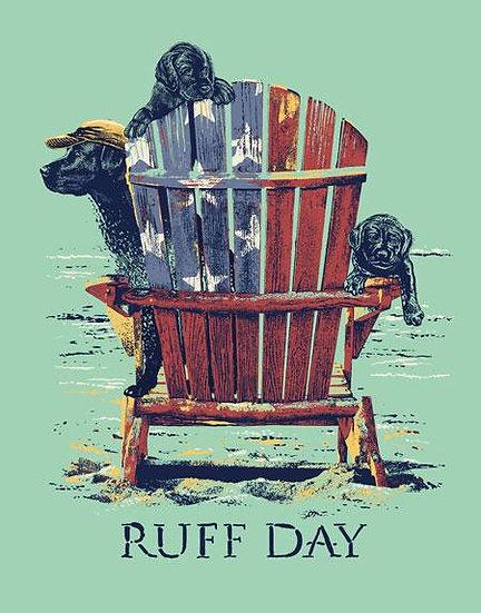 Black Labs Patriotic Tin Sign 'Ruff Day'