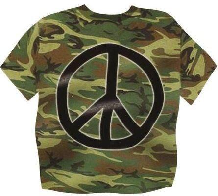 Camo Peace Sticker
