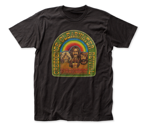 Creedence Clearwater Revival In Concert T-Shirt / Throwback Retro Rock Tee