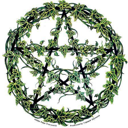 Spiritual Ivy Pentagram Sticker