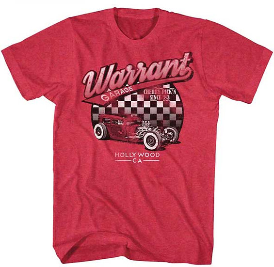 Warrant T-Shirt / 80's Throwback Cherry pickin since '83' Hot Rod Tee