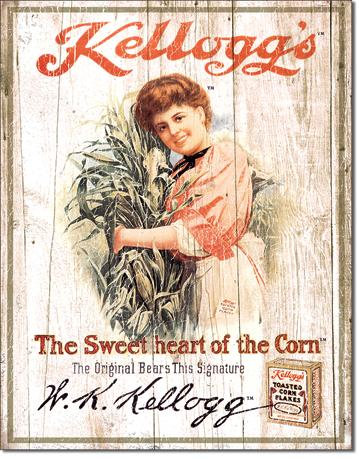 Vintage Ad Kellogg's Rice Krispies Replica Tin Sign – Sweetheart of the Corn