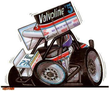 Valvoline No Fear Sprint Car Sticker