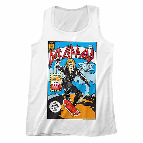 Def Leppard Tank Top / Def Leppard and the women of doom Adult Tank