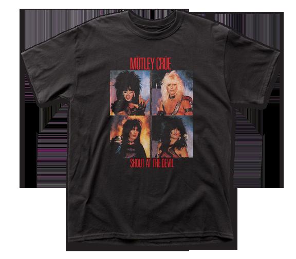 Motley Crue T-Shirt / Retro 80's Motley Crue Shout at the Devil Album Tee