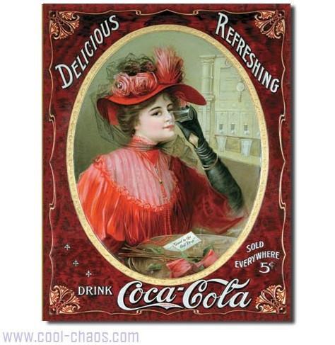Victorian Coca-Cola Tin Sign