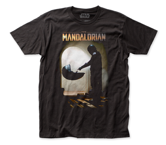 Star Wars Mando Meets Baby Yoda Mandalorian T-Shirt by Star Wars