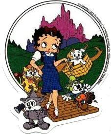 Betty Boop in the The Wizard of Oz Dorothy Sticker