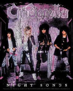 Night Songs 80s Cinderella Sticker