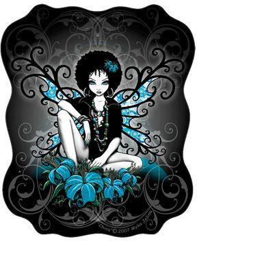Myka Jelina Art Fairy Sticker Retro Yin Yang Peace Fairy