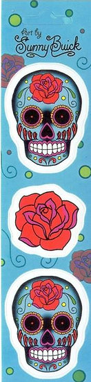 Tattoo Rose Sugar Skull Stickers Pack
