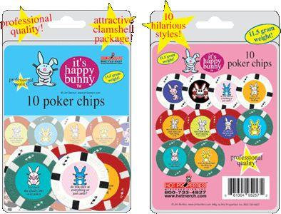 Happy Bunny Poker Chips Set of 10