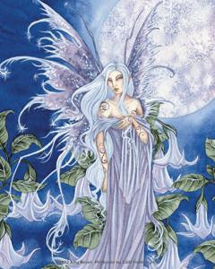 Blue Bell Moon Fairy Sticker