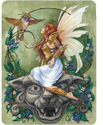 Hummingbird Fairy Gargoyle Sticker