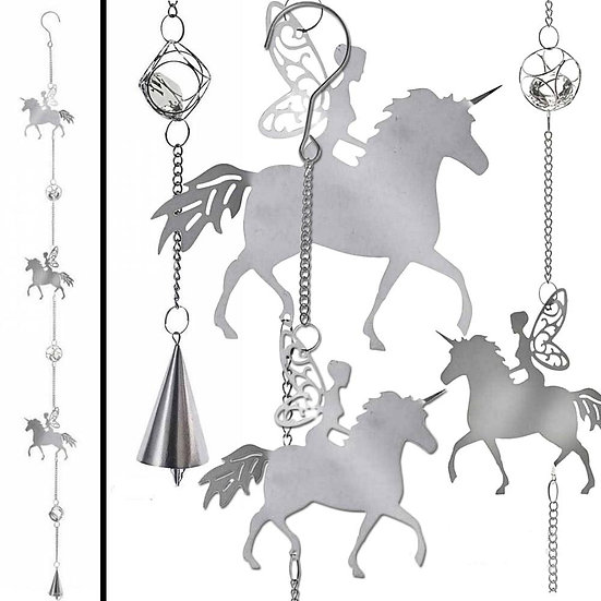 Mystical Magical Crystals Unicorn Fairy Hanging Decoration