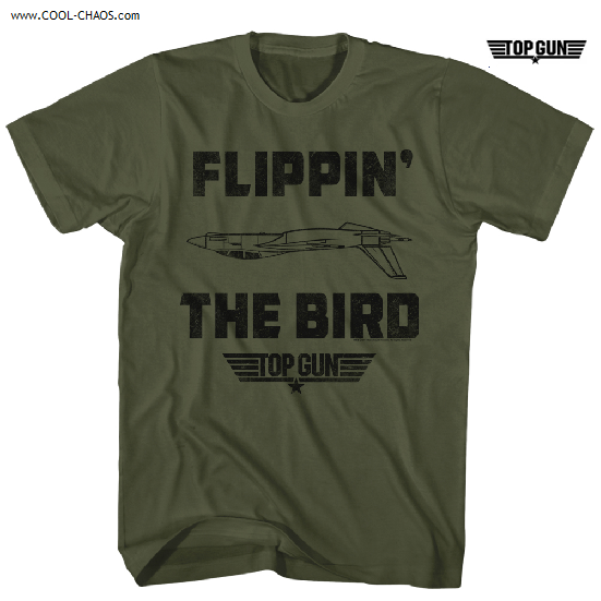 Top Gun T-Shirt / Top Gun 'Flippin the Bird!' Movie Tee