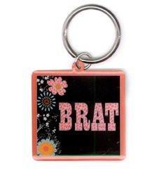 Cool Pink Leopard Classy Brat Keychain