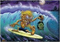 Dirty Donny Monster Surfer Fridge Magnet