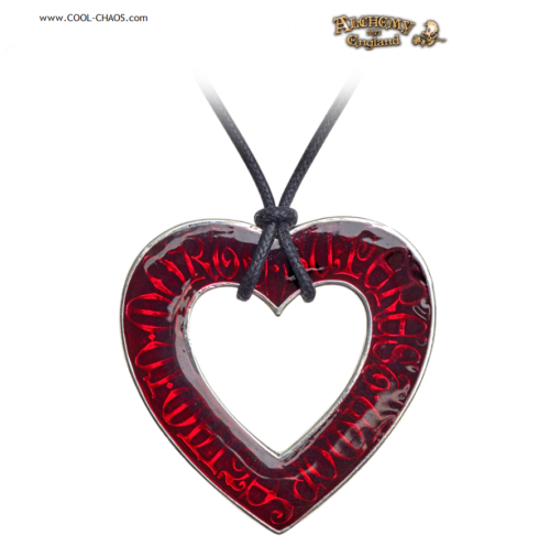 Til Death Red Heart Necklace P803 Alchemy Gothic 1977