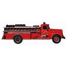 Vintage Fire Truck Bookmark