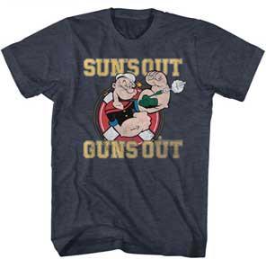 Popeye T-Shirt / Suns out, Guns out Cartoon Tee