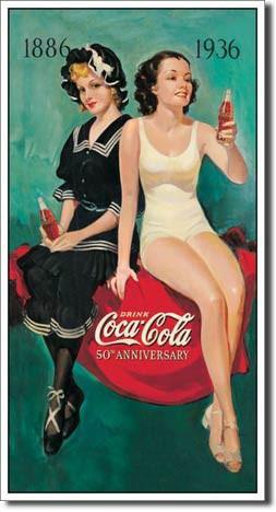 Sun Bathers 50th Anniversary Coca-Cola Sign