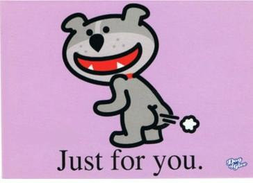 Fart Jokes Funny Bulldog Dog of Glee Postcards Set 3 Pack