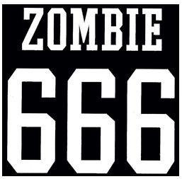 666 Zombie Rub-on Decal