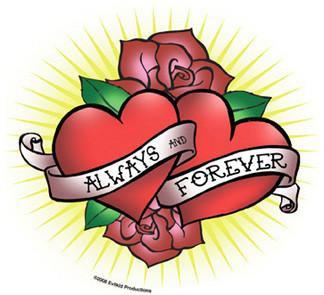 Always Forever Heart Sticker