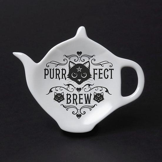 Purrfect Brew Black Cat Teaspoon Holder by Alchemy Gothic 1977