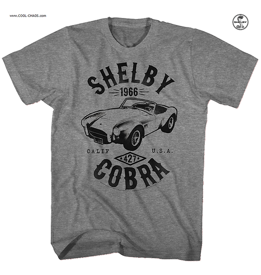 Carroll Shelby T-Shirt / Calif USA 1966 SHELBY COBRA 427 Muscle Car Tee