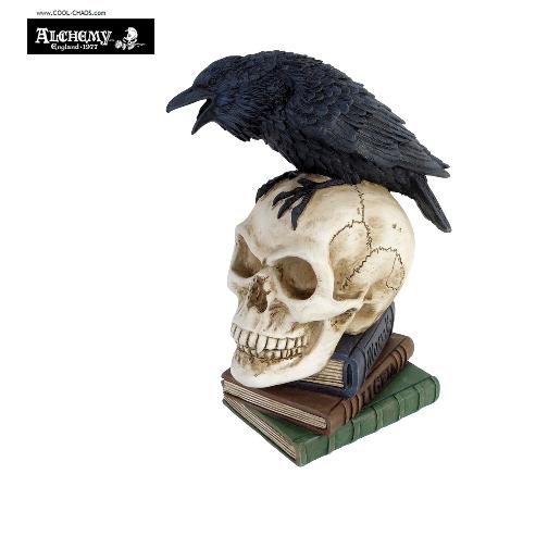 Edgar Allan Poe The Raven Statue / Halloween Gotic Decor