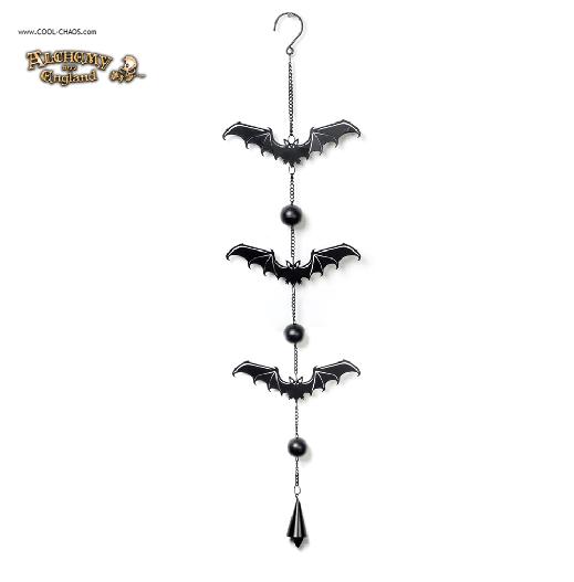 Mystical Vampire Bat Wind Chime by Alchemy Gothic 1977
