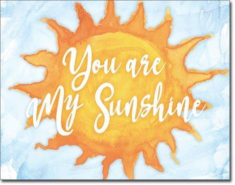 Sun Clouds 'You are my Sunshine' Tin Sign