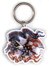 American Heritage Eagle Keychain