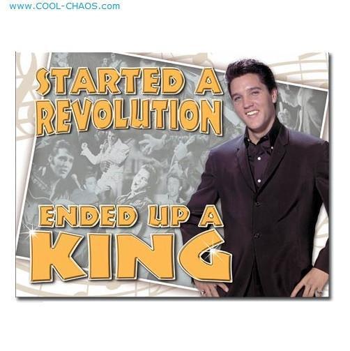 Tin Sign Elvis Presley Sign