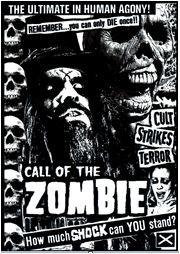 Rob Zombie Sticker #5 Call of the Zombie