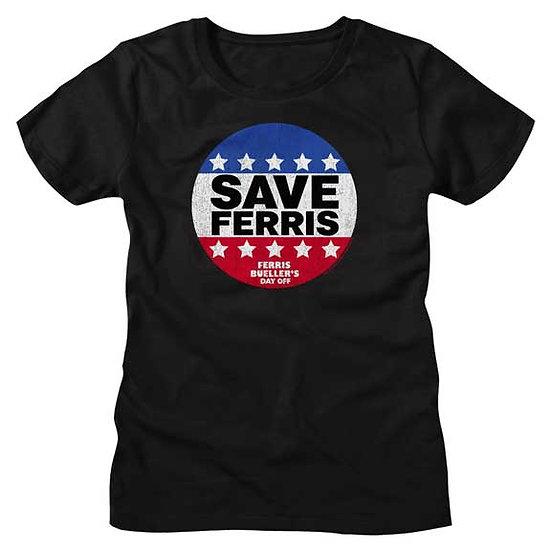 Ferris Bueller's Day Off T-Shirt / 80s SAVE FERRIS USA Movie Juniors Tee